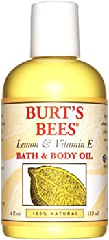 Burt's Bees 100% Natural Lemon and Vitamin E Body and Bath Oil 4 Ounce