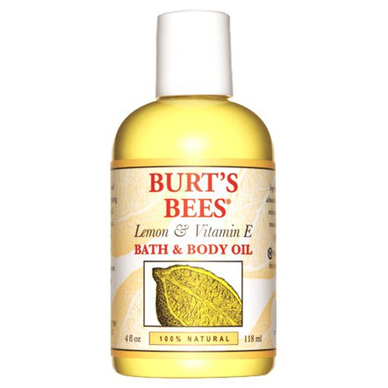 Burt's Bees 100% Natural Lemon and Vitamin E Body and Bath Oil - 4 Ounce Bottle Burt' s Bees 792850094994