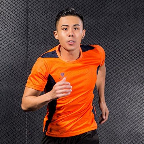 Acmede Fitness Rapide De Homme shirt Courtes Manches T Séchage Sport Running Respitant Orange nPPxq