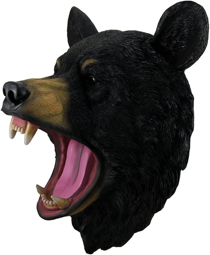 DWK Wildlife Fake Taxidermy Wall Mount Roaring Black Bear