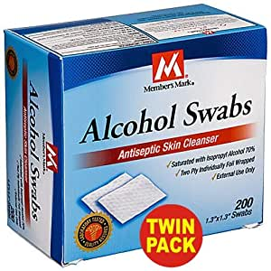 Member's Mark Alcohol Swabs, 400-Count