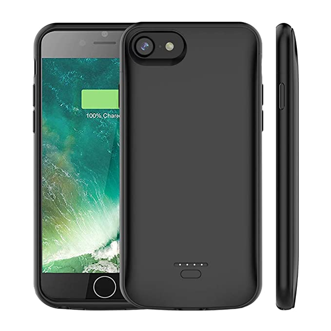 timeless design 35538 8a15f iPhone 6s Plus /6 Plus Battery Case, SNSOU 5500mAh Portable Charger Case  Ultra-Thin Rechargeable Extended Battery Pack Protective Backup Charging  Case ...
