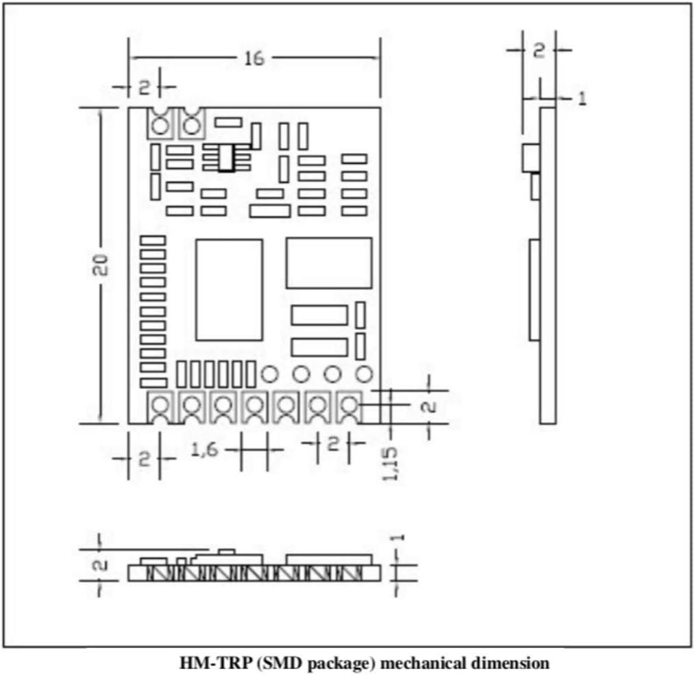UART Interface HM-TRP-915Mhz 2-PCS HM-TRP HopeRF Wireless IOT Transceiver