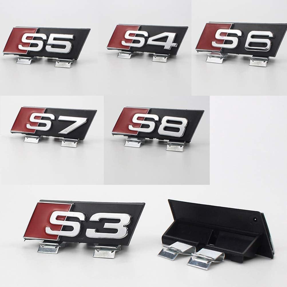 Accessoires de r/éam/énagement de la calandre Avant Audi Logo plaqu/é Applicable pour Audi ABS d/écoratif pour Voiture UFFD Insigne dembl/ème de Sport Automobile