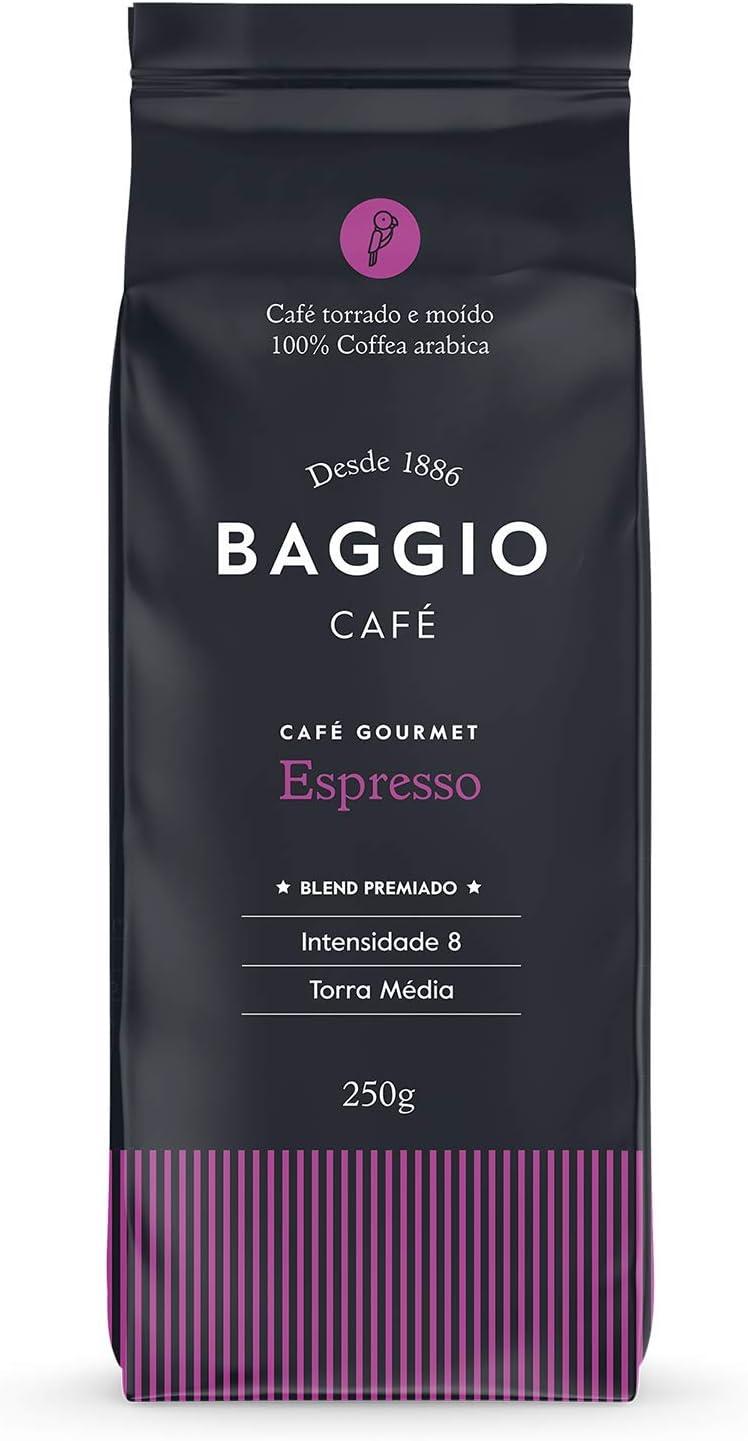 Café Torrado e Moído Gourmet Espresso Baggio Café 250g por Baggio Café