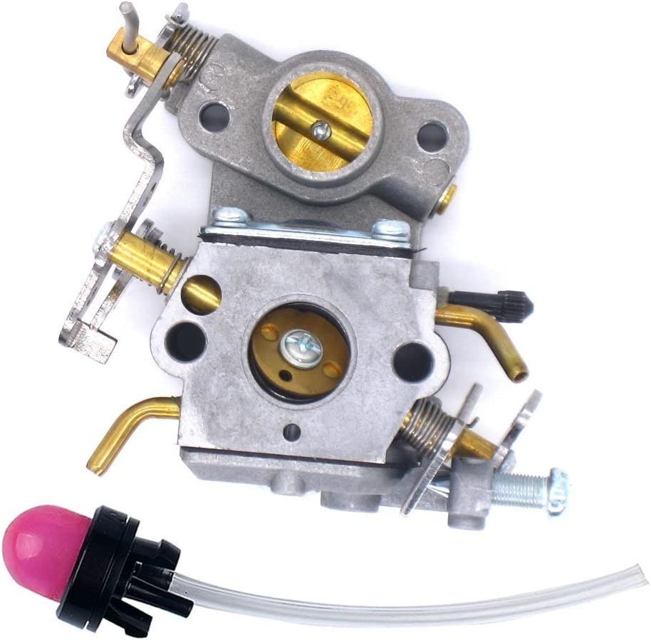 Carburetor with Primer Bulb For Poulan Craftsman Zama C1M-W26C 545070601
