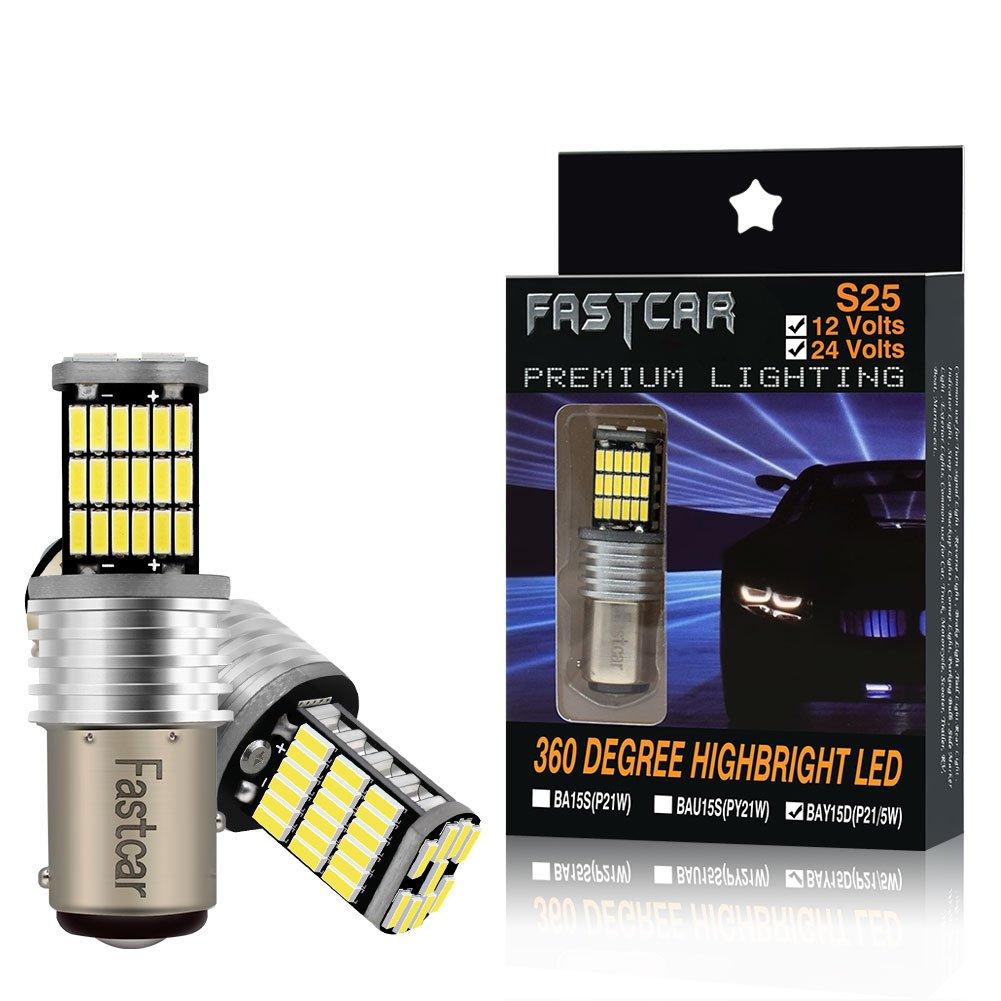 High Performance 2PCS BAU15S PY21W lampadine principali auto LED per Indicatori di Direzione Ambra Gialla, Pacchetto di 2 (150 ° ) Pacchetto di 2 (150 °) Gofeng