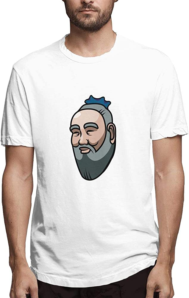Xkcl China Ancient Wisdom Confucius Designed O Neck For 4447 Shirts