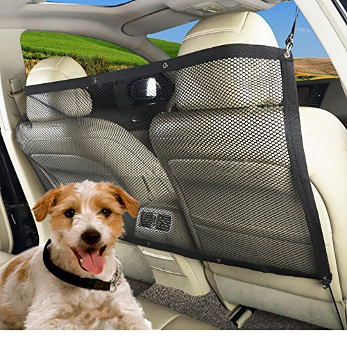 MARBOL Dog Car Carrier Pet Fence Anti-collision Adjustable Mesh Pet Auto Barrier Safety Isolation Net Pet Protection Keep In Back Seat (Mesh Fence Barrier)