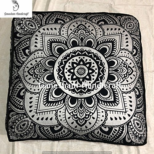GANESHAM Indian,Decorative Throw Pillow Mandala Dog Bed, Mandala Boho Decor, Handmade Mandala Floor Pouf Ottoman Boho Pillow Tapestry cat Bed Tapestry -