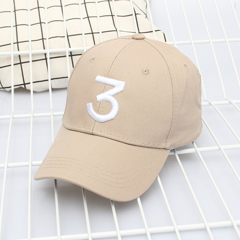 ZZURCCA Number 3 Baseball Cap Embroidered Adjustable Chance The ... 62c32d2c7990