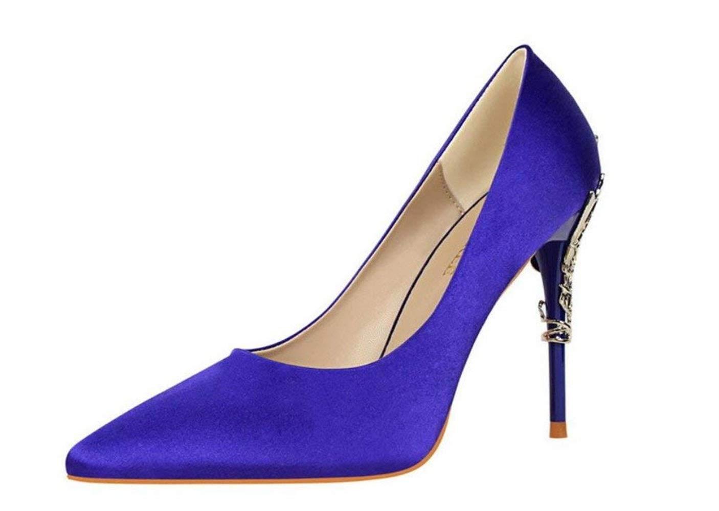 Moontang Süßigkeit-Farben-purpurrote hohe Absatz-Sandelholz-Satin wies niedrige niedrige niedrige mittlere Kätzchen-Fersen-Stilett-Ferse-Damen-Frauen-Mädchen-Damen-Hof-Schuhe nach 7b81a2