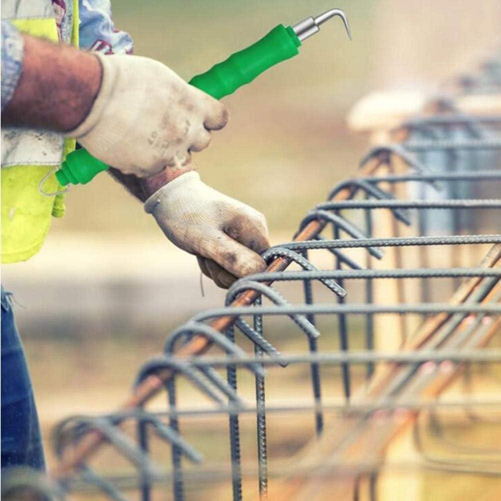 Juntful Gancho de barra de refuerzo recto semiautom/ático manual de alambre de la herramienta de montaje sitio de construcci/ón