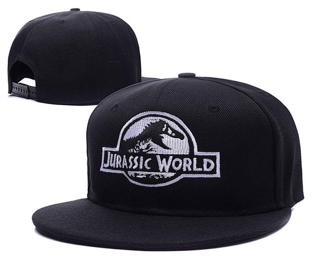 Amazon.com  Jurassic World Logo Adjustable Snapback Caps Embroidery ... 30341ddb741