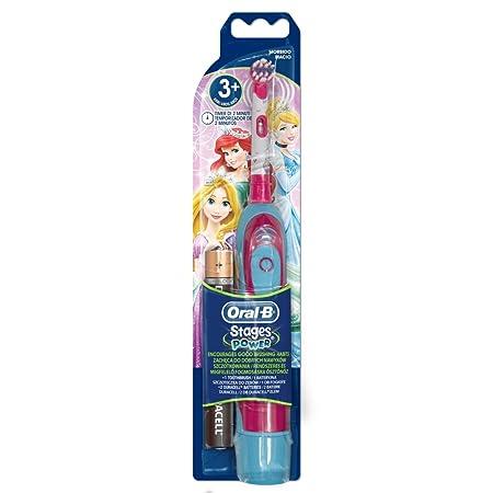 Oral-B - Cepillo de dientes eléctrico (funciona con pilas), diseño de princesas Disney: Amazon.es: Salud y cuidado personal