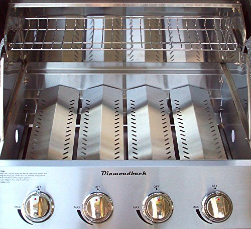 Diamondback Built-In Grill 4 Burner Propane LP Natural Gas 26