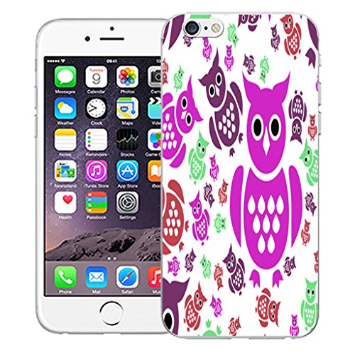 """Mobile Case Mate iPhone 6 Plus 5.5"""" Silicone Coque couverture case cover Pare-chocs + STYLET - Noble Owl pattern (SILICON)"""