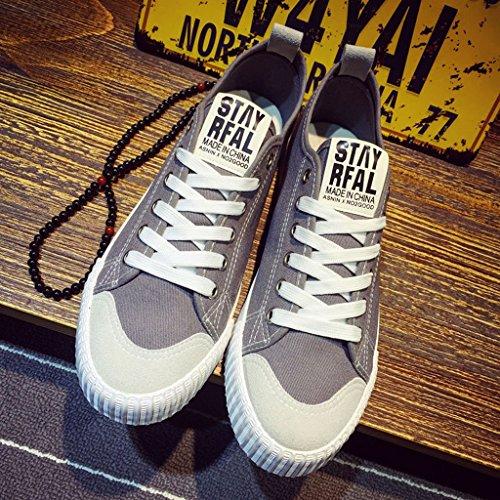 tela basse primavera coreano selvaggia Espadrillas tela stile Gray nuove scarpe 39 da casual scarpe da uomo tendenza Scarpe stile Scarpe YaNanHome uomo Color Size di in Gray uomo da 5z1gnPw