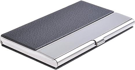 elegancia cl/ásica de todos los tiempos 703-03 Quantum Abacus Tarjetero//Estuche para tarjetas de visita de acero inoxidable y cuero PU DE