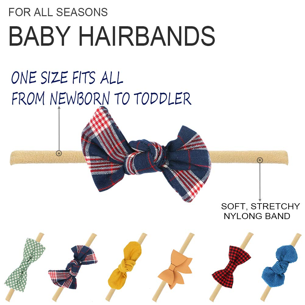 Nylon Headbands Hair Accessories for Newborn Toddler Girls Baby Girl Headbands and Bows