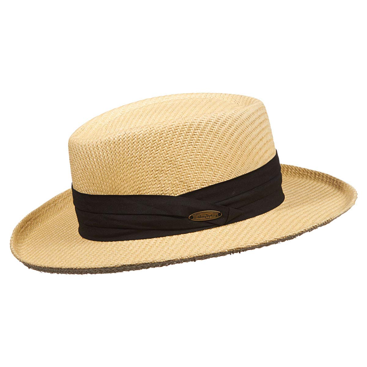 de11b469fc1f9e Amazon.com: Panama Jack Gambler Straw Hat - Lightweight, 3