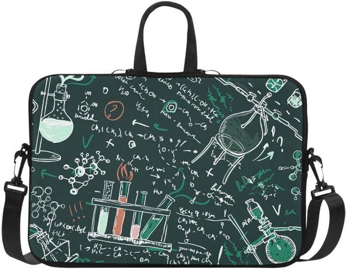 InterestPrint Chemistry Educational Laptop Sleeve Case Bag, Education Shoulder Strap Laptop Sleeve Notebook Computer Bag 13.3 Inch for MacBook Pro Air HP Dell