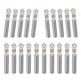 HAWKUNG 20pcs boquilla extrusora de acero inoxidable (0,4 mmx12/0 ...