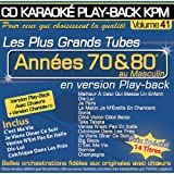 "CD Karaoké Play-Back KPM Vol.41 ""Tubes Années 70 & 80 Au Masculin"""