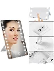Make Up Mirror, Charminer 16 LEDs Touch Light Illuminated Cosmetic Bathroom Shaving Vanity White