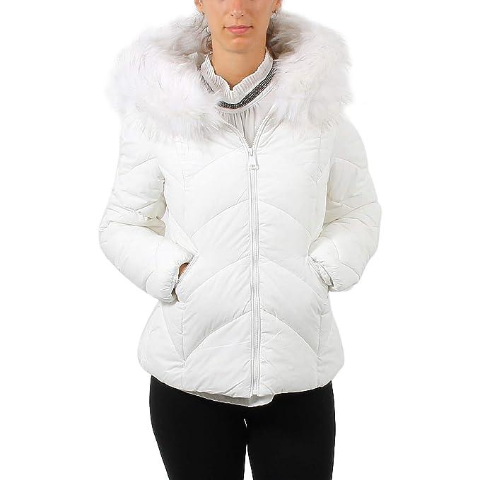best service 40c6c d0c0a B Style Giubbotto da donna con cappuccio e pelo: Amazon.it ...
