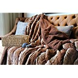 Tache 50 X 60 Inch Golden Brown Faux Fur Sherpa Throw Blanket