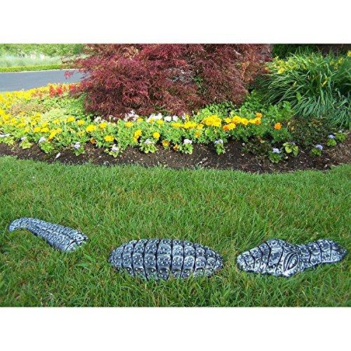 (Oakland Living Cast Aluminum Decorative Garden Gator, Antique Pewter)