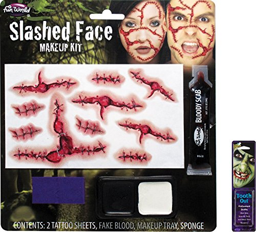 Potomac Banks Bundle: 2 Items - Slashed Face Makeup Kit and Free Pack of Makeup]()
