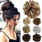 #4: Lelinta Hair Bun Extensions Wavy Curly Messy Hair Extensions Donut Hair Chignons Hair Piece Wig Hairpiece
