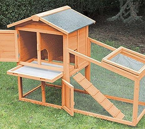 FINCA CASAREJO Conejera para Exterior Fabricada en Madera con Capacidad para 1-3 Conejos - Modelo Borgoña: Amazon.es: Productos para mascotas