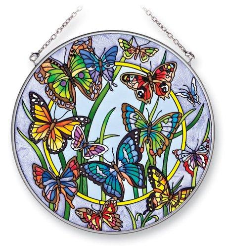 Amia 41307 Dancing Butterflies 6-1/2-Inch Circle Sun Catcher, Large
