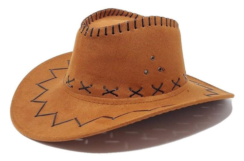 R/&F srls Cappello Cowboy Cammello Cowgirl Scamosciato Festa Party Country Western