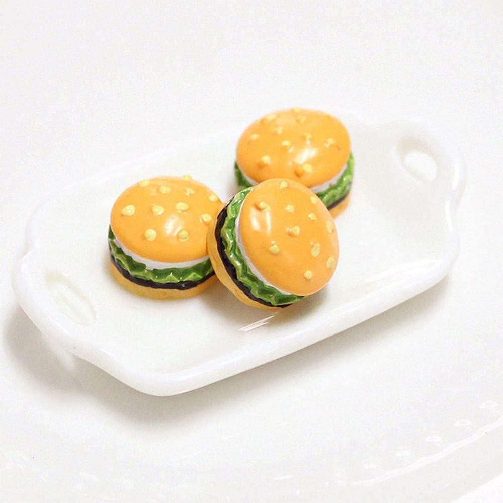 100Pcs Miniature Resin Macaroon Cake Bakery Dollhouse Sandwich Biscuit Model