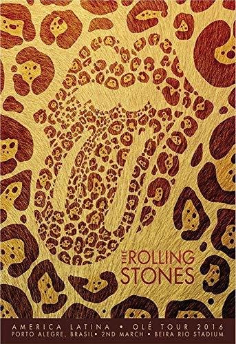 Poster 13x19 - Rolling Stones - OLE Tour 2016 - Porto Alegre Leopard