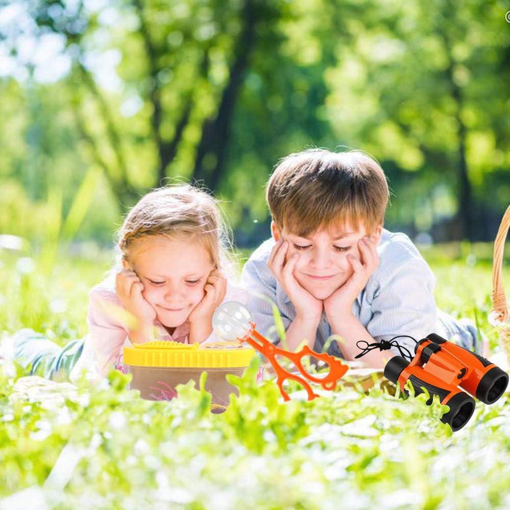 Kit de Binoculares para Niños,Kit de Exploración 15 en 1 Kit Explorador Naturaleza, Prismáticos, Linterna LED de Mano, Mochilla de Colección, Brújula, Lupa, Silbato,Juego de Explorador para Niños: Amazon.es: Juguetes y juegos