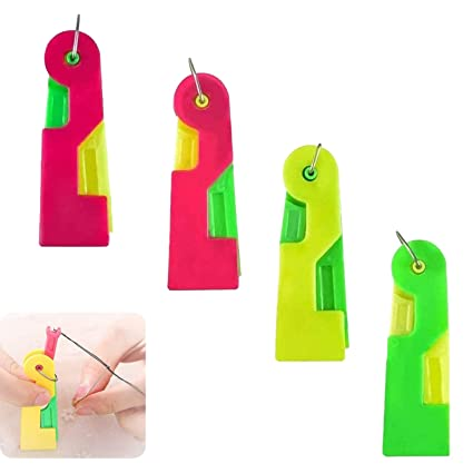 2020 New Automatic Needle Threading Device Plastic Needle Threader Thread Guide Needle Device,Easy Use /& Carry,Fit for Kids Young and Old-Random Color 4 PCS,4 Pcs
