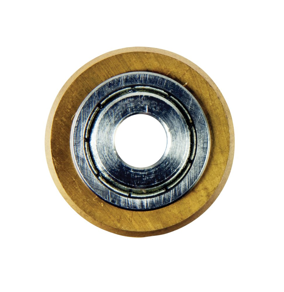 QEP 21125 QEP Tungsten-Carbide, Tile Cutter Replacement Wheel for Models 10630 and 10900, 7/8-Inch,  Titanium-Coated by QEP