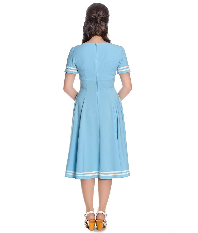 e04b1c01fb0d Hell Bunny 50's Ambleside Nautical Sailor Dress: Amazon.co.uk: Clothing