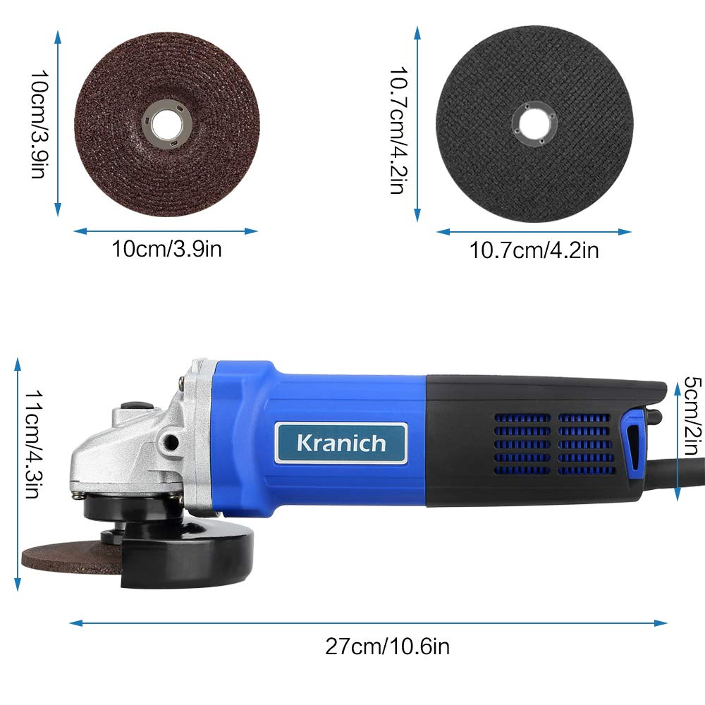 Winkelschleifer Set (Scheibe Ø 100 mm, 760 Watt, Zubehör, im Kofer)