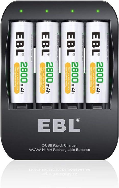 Amazon.com: EBL 2-USB iquick Individual Cargador con 4 ...