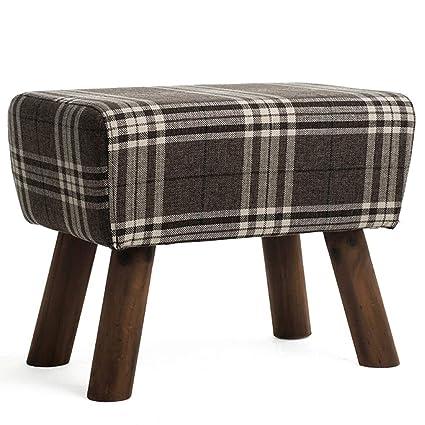 Amazon.com: Living room footstool lazy sofa Yoga stool Solid ...