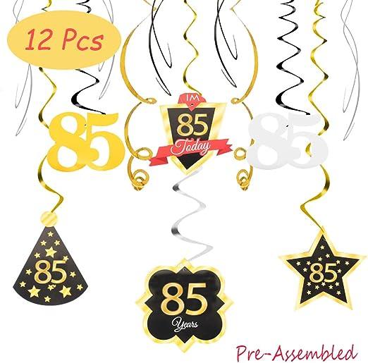 Amazon.com: 85 cumpleaños decoración feliz 85 cumpleaños ...