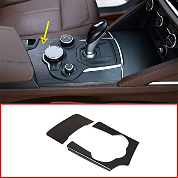 YIWANG Carbon Fiber Style ABS Plastic Center Console Gear Shift Decoration Panel Cover Trim for Alfa Romeo Giulia,for Alfa Romeo Stelvio