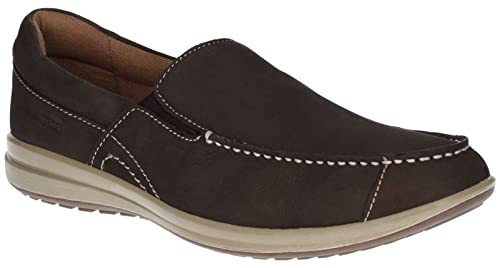e212ee8e9ce Hush Puppies Runner Mens Leather Casual Shoes Dark Brown - Dark Brown - UK  Size 6