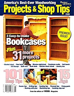 Projects and Shop tips: 3 easy to make book cases